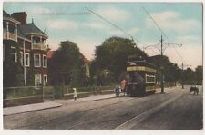 Leicester, London Road 1909 Tram Postcard B631