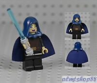 LEGO Star Wars - Barriss Offee Lightsaber Dark Blue Cape Hood Jedi Minifig 9491