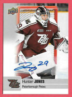 2019-20 Hunter Jones Upper Deck CHL Rookie Auto - Peterborough Petes