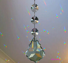 Suncatcher Crystal Feng Shui Rainbow Prism 50mm using 3 swarovski 14mm octagons