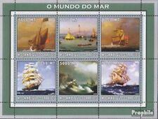 Mosambik 2566-2571 Velletje postfris MNH 2002 Wereld van Marine