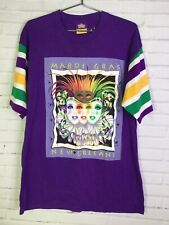 Andrea Mistretta Womens Size L 1995 New Orleans Mardi Gras Graphic T-Shirt USA