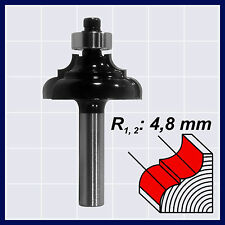 HM Profilfräser mit Kugellager Holzfräser Fräser R1 4,8 mm Schaft 8 mm