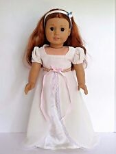 """Ivory Victorian Gown Headband Fits 18"""" American Girl Dolls Clothes"""