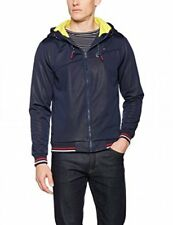 NEW Tommy Hilfiger Denim Men's Hooded Shell Fleece Lined Jacket Size Large Navy