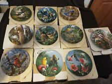 Edwin M. Knowles Birds of Your Garden Collector Plates In Boxes w/ Coas