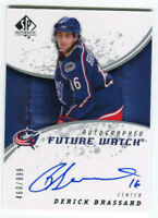 2008 Derick Brassard  Sp Authentic auto Autograph Rookie #196