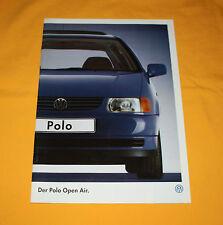 VW Polo Open Air 1996 Prospekt Brochure Depliant Prospetto Prospecto Catalog