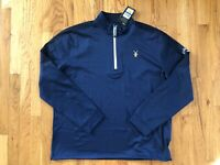 NWT Men's Callaway Quarter Zip Thermal WeatherSeries Golf Pullover UPF 50 XL