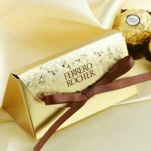 Gold FERRERO ROCHER Candy Boxes Wedding Favor Bridal Party Chocolate Gift Box
