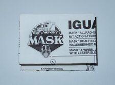 M.A.S.K 'IGUANA' - SPARE INSTRUCTIONS - KENNER