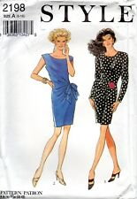 Style Sewing Pattern 2198 Misses Dresses Soft Pleats Size 6-16