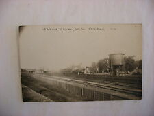Real Photo Postcard RPPC Depot Railroad Station West Chicago Illinois IL #1354