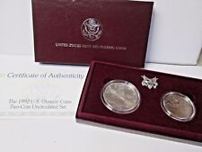 1992 US Olympic Uncirculated 2 Coin Commemorative Set