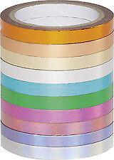 Folia Deko Klebeband Washi-Tape HOTFOIL, 10er Set, Papierklebeband
