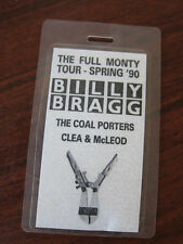BILLY BRAGG Coal Porters Backstage Pass