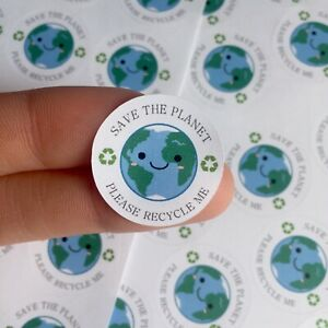 Save The Planet Please Recycle Me Recycling Stickers Save Environment Stickers