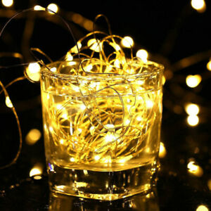 LED Copper Wire String Lights  Decoration Lantern Battery Box Copper Wire Lamp