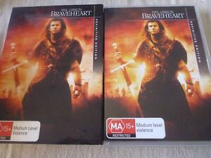 Braveheart - 2 Disc Definitive Edition (2x DVD, 2007) Region 4 Mel Gibson