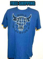 New Project Rock World Champion Brahma Bull Blue T-Shirt Size L