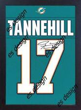 Ryan Tannehill Miami Dolphins NFL signed printed on Canvas 100% cotton Framed