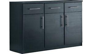 Home Anderson 3 Door 3 Drawer Sideboard - Black