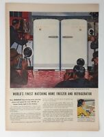 Original Print Ad 1953 ADMIRAL Freezer & Refrigerator Vintage Artwork