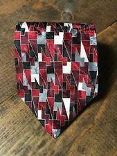 Johnny Carson Mens Necktie-Tie-Fashion Accessory-Red Black Silver Gold-100% Silk