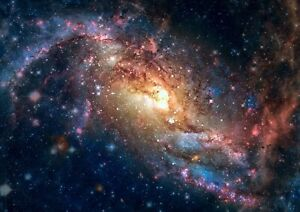 A4  Amazing Nebula Poster Print Size A4 Stars Galaxy Space Poster Gift #15518