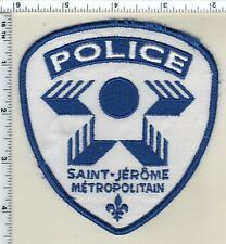 Saint-Jerome Metropolitain Police (Canada) Shoulder Patch from 1997
