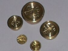 Brass Weights 5 Pcs - 20 Gm 10 Gm 5 Gm 2 Gm & 1 Gm School Project Manual Balance