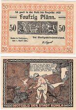 Germany 50 Pfennig 1921 Notgeld Ruhla AU-UNC Banknote