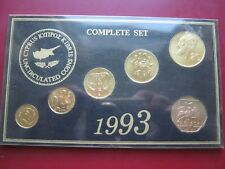 Cyprus coinage 1993 UNC 6 coin collection set: 1 2 5 10 20 & 50 Cents