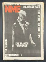 NME  6 February 1982 Theatre of Hate Tom Wolfe Four Tops Damned Seething Wells
