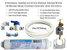 10M Complete Hose connection kit American Fridge Freezer Water Filter Filters
