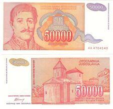 JUGOSLAVIA 50000 Dinara 1994 P-142 UNC BANCONOTA HYPER infaltion