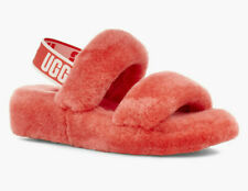 UGG Womens Oh Yeah Slide Pop Coral Size 8
