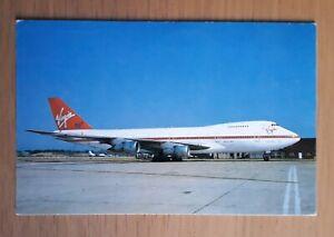 Virgin Atlantic Airways (UK) Boeing 747 aircraft postcard
