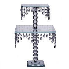 "21"" Glass Chandelier Crystal Cake Cupcake Stand Riser Wedding Centerpiece"