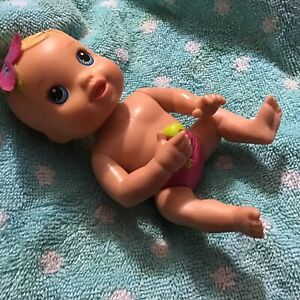 "Baby Alive (Kicks N Cuddles)Baby Doll Mini 6"" (Works) Blue Eyes 2012 Interact"