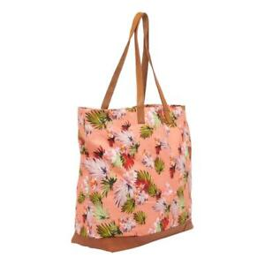 Superdry Large Printed Tote Bag - Brushed Pink Palm NEW