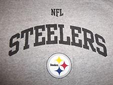 NFL Pittsburgh Steelers Football Gray Graphic Sleeveless Shirt - M