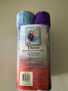 """NEW Disney's Frozen 2 Elsa Anna Throw Blanket Warm Soft Super Throw 46"""" x 60''"""