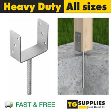 Heavy Duty Galvanised U Shape Pergola Gazebo Post Support Foot Base CONCRETING