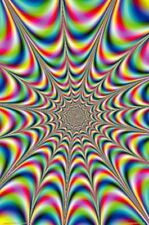 (LAMINATED) FRACTAL ILLUSION DOOR POSTER (53x158cm) TRIPPY ACID LSD PSYCHEDELLIC