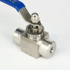 "1/8"" BSP 304 Stainless Steel Ball Valve High Pressure 4576 PSI Water Gas Oil"