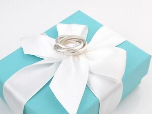 Tiffany & Co Silver Triple Interlocking Ring Size 6 Pouch Included
