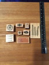 Misc Lot Of Rubber Stamps 8 Pcs