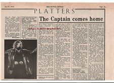 CAPTAIN BEEFHEART Trout Mask Replica album review 1975 UK ARTICLE / clipping