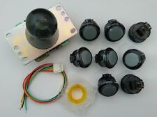 Japan Sanwa Clean Black Joystick Buttons Set of 8 OBSC-30-CS Video Game GT-Y